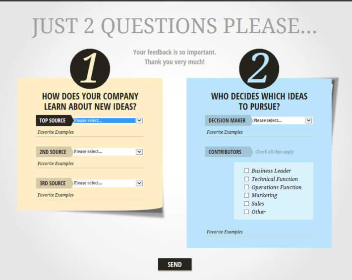 Maximize your product launch budget witih insights from this two Question Survey.