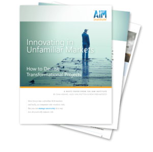 De-risking Innovation: Innovating in Unfamiliar Markets Whitepaper image