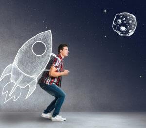 Rocket on Back Image