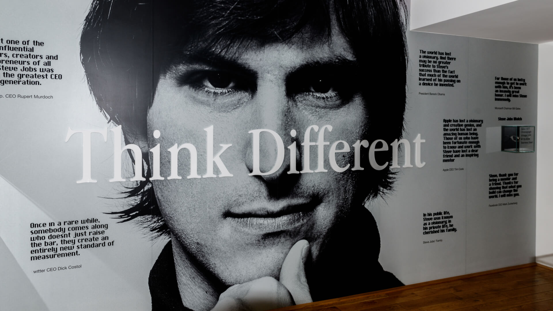 Steve Jobs: develop new products like Steve Jobs
