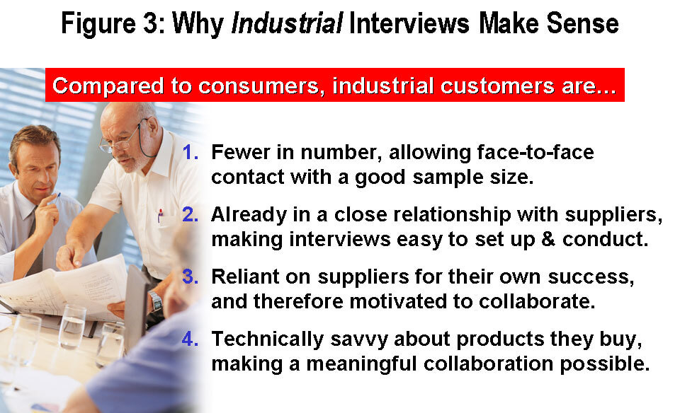 Why industrial interviews make sense