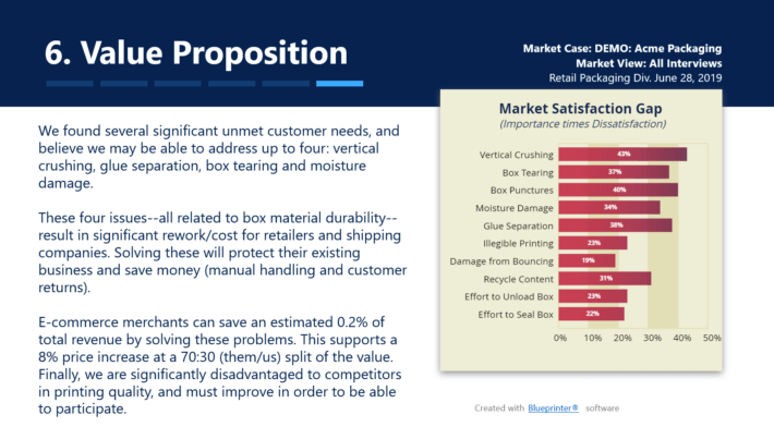 Sample of Part 6 in a B2B Business Case