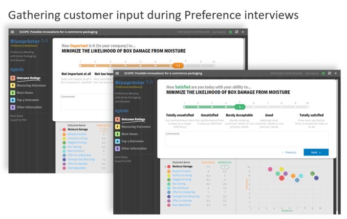 Use Preference interviews for quantitative customer insight