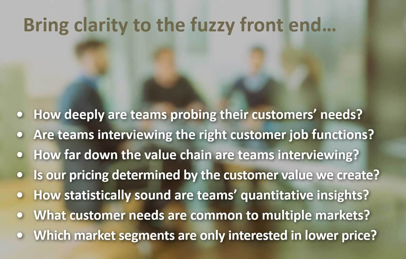 """The """"fuzzy"""" front end can become crystal clear."""