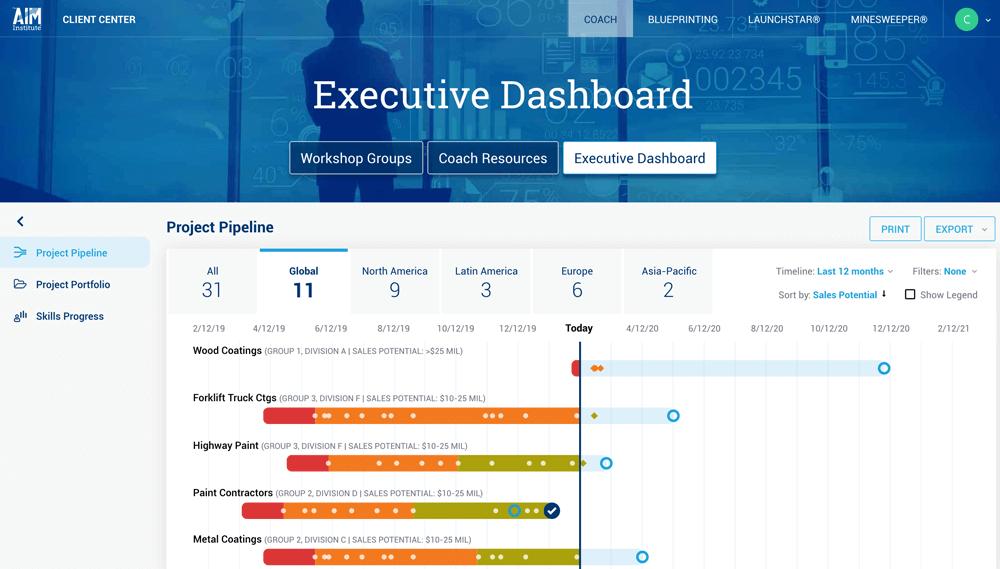 executive dashboard illustration
