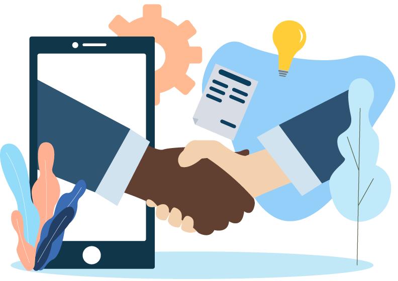 private web-conference illustration