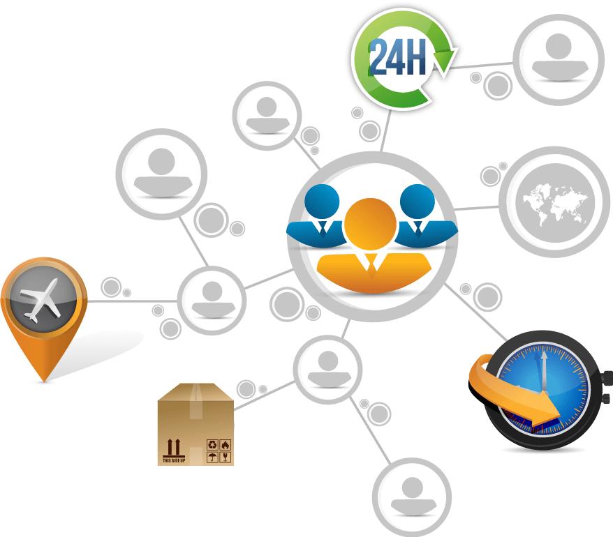 logistics illustration
