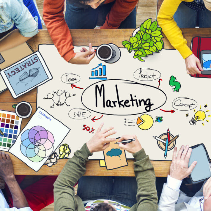 Marketing communications uses the value proposition of a product as the core message. They use their creative talents to determine how to tell it.