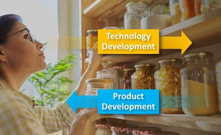 When you commercialize technology, it's like taking something out of your pantry.