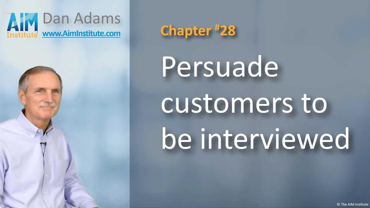 Chapter-28-Persuade-customers-to-be-interviewed